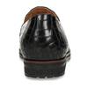 Kožené dámské mokasíny s hadí texturou gabor, černá, 516-6103 - 15