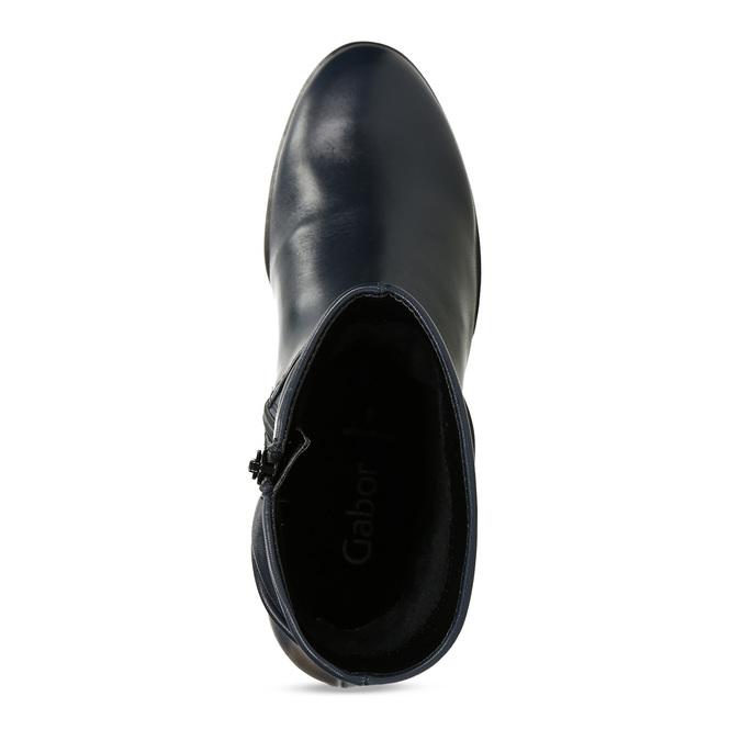 Modrá dámská kožená kotníková obuv gabor, modrá, 696-9101 - 17