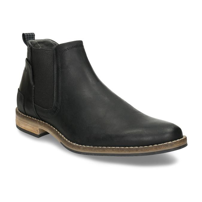 Černá pánská Chelsea obuv kožená bata, černá, 826-6712 - 13