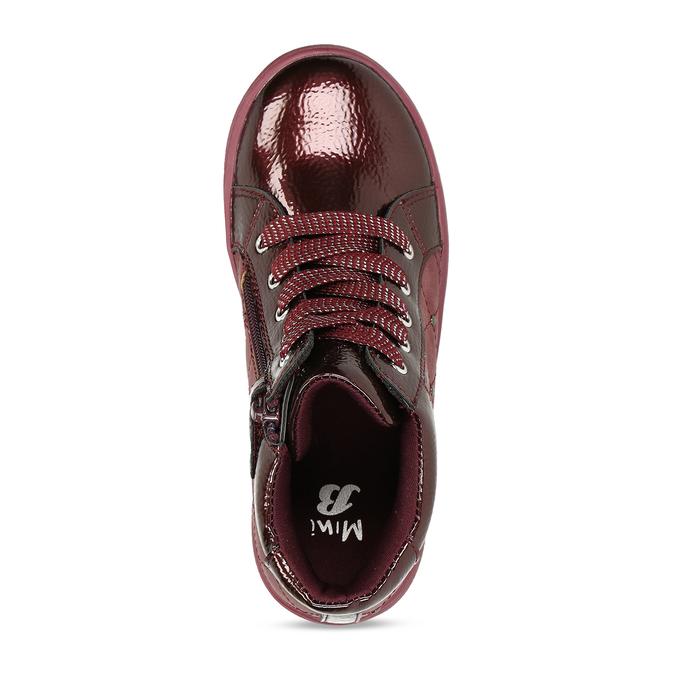 Červené dívčí kotníkové tenisky mini-b, červená, 321-5602 - 17