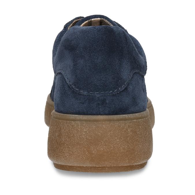 KOŽENÉ DÁMSKÉ TENISKY ŠEDÉ bata, modrá, 523-9614 - 15