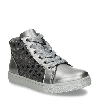 Stříbrné dívčí kotníkové tenisky mini-b, šedá, 221-2603 - 13