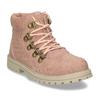 Růžová dívčí kotníková obuv s hvězdičkami mini-b, růžová, 221-5611 - 13