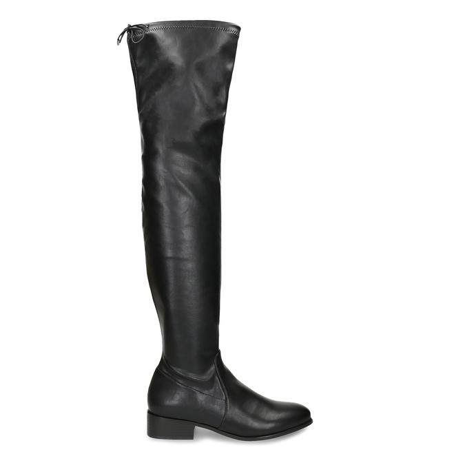 Černé dámské kozačky nad kolena bata, černá, 591-6610 - 19