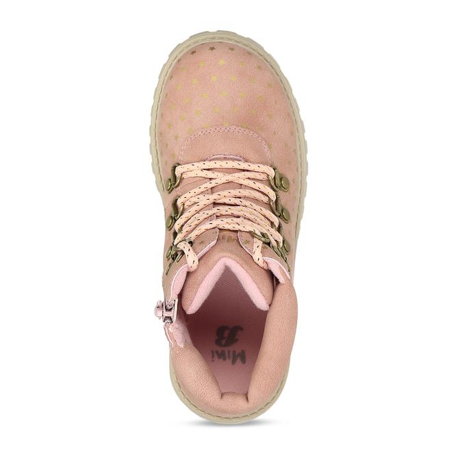 Růžová dívčí kotníková obuv s hvězdičkami mini-b, růžová, 221-5611 - 17
