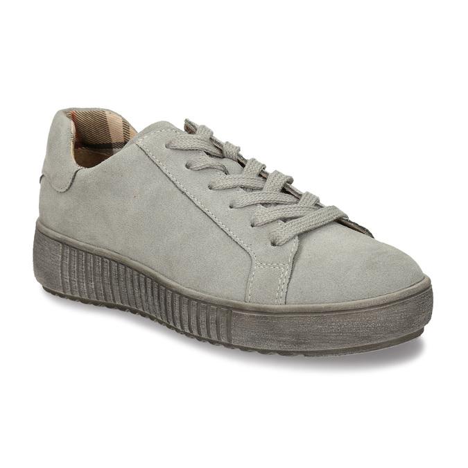 ŠEDÉ DÁMSKÉ KOŽENÉ TENISKY bata, šedá, 523-2614 - 13