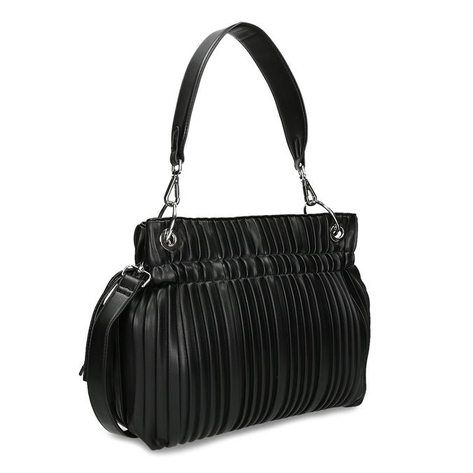 Černá dámská kabelka ze skládané koženky bata, černá, 961-6735 - 13