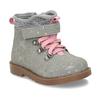 Kotníková dětská obuv s puntíky bubblegummers, šedá, 124-2725 - 13
