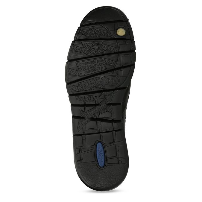 Černé pánské kožené mokasíny fluchos, černá, 814-6703 - 18