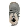 Dětská šedá kožená kotníková zimní obuv froddo, šedá, 194-2610 - 17