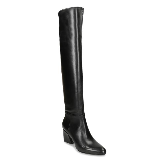 Dámské vysoké kozačky v černé kůži bata, černá, 794-6635 - 13