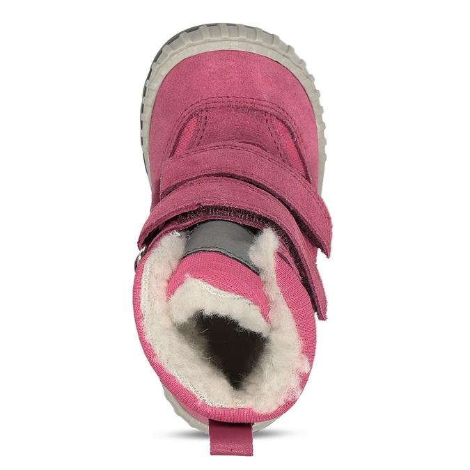 Růžová dívčí zimní obuv s kožíškem froddo, růžová, 199-5615 - 17
