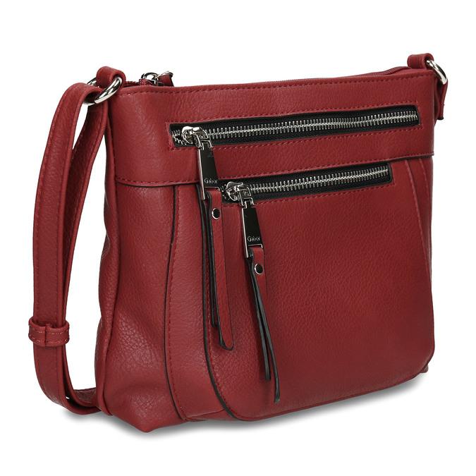 Dámská terakotová kabelka se dvěma zipy gabor, červená, 961-5805 - 13