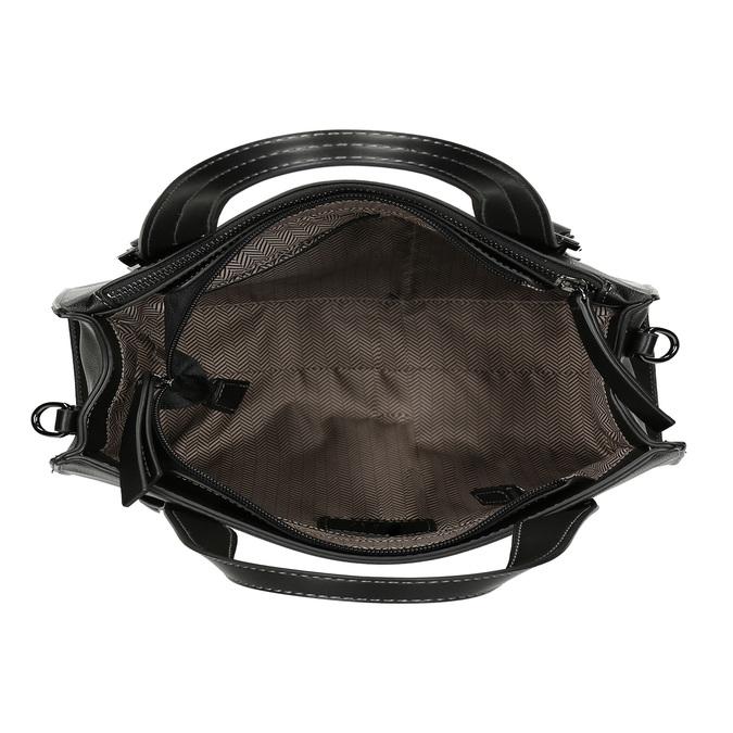 Černá kabelka s výraznými přezkami gabor, černá, 961-6813 - 15
