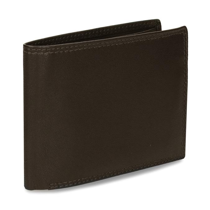Minimalistická pánská peněženka v hnědé kůži bata, hnědá, 944-4127 - 13
