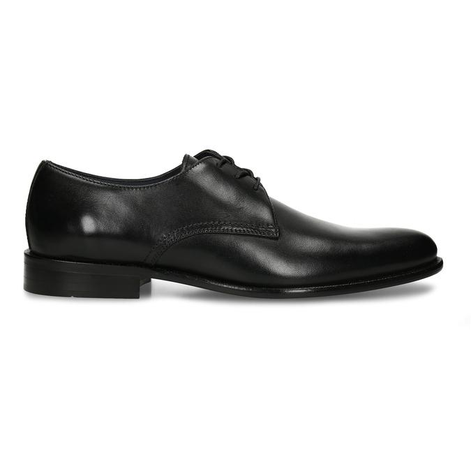 Černé pánské kožené společenské polobotky bata, černá, 824-6736 - 19