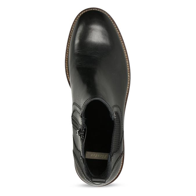 Kožená pánská černá Chelsea obuv bata, černá, 824-6710 - 17