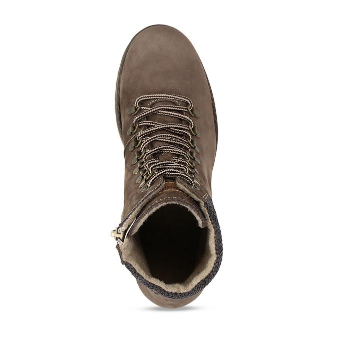 Hnědá dámská kotníková obuv na hrubším podpatku weinbrenner, hnědá, 696-4620 - 17