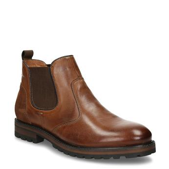 Pánská kožená Chelsea obuv hnědá bata, hnědá, 826-3614 - 13
