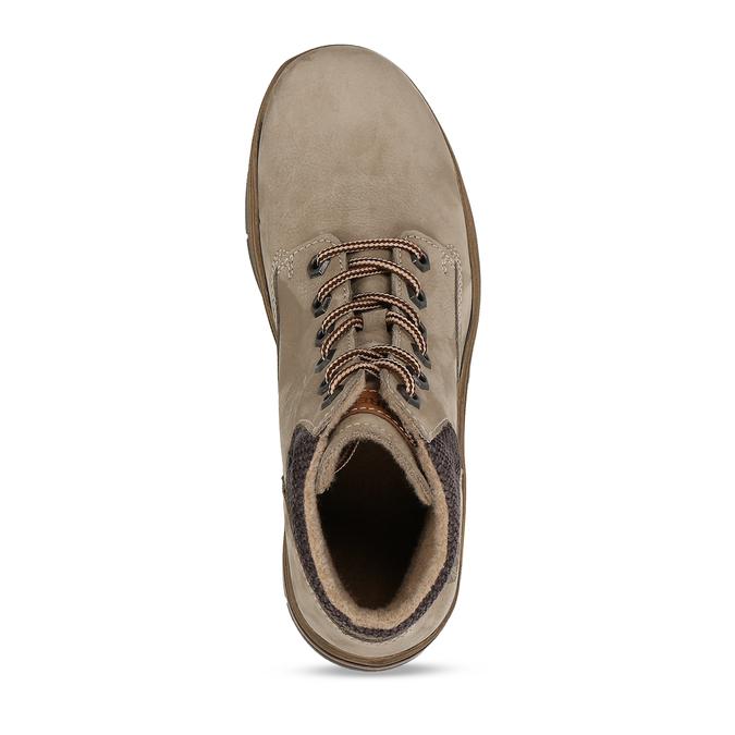 Dámská kotníková kožená obuv v béžové kůži weinbrenner, béžová, 596-4624 - 17