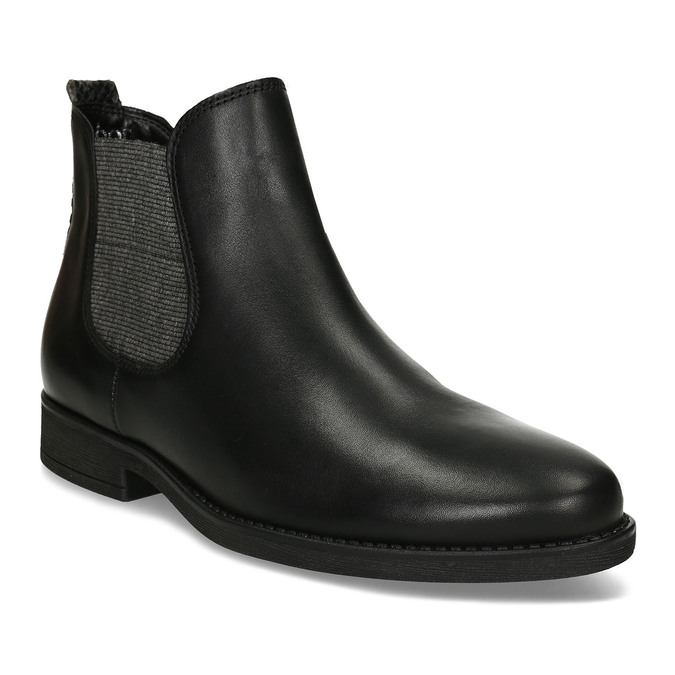 Dámská černá kožená Chelsea obuv gabor, černá, 594-6360 - 13