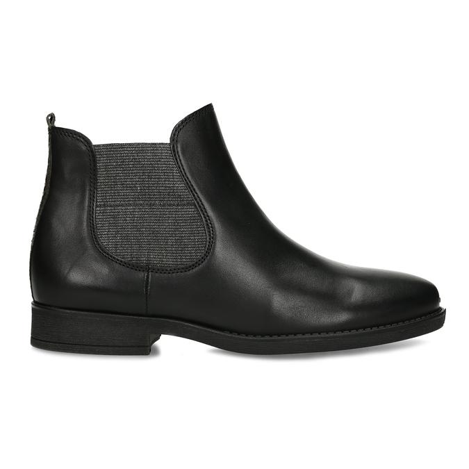 Dámská černá kožená Chelsea obuv gabor, černá, 594-6360 - 19