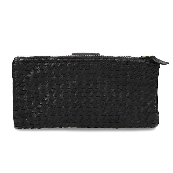Dámská černá kožená peněženka bata, černá, 944-6111 - 16