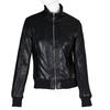 Černá dámská koženková bunda na zip bata, černá, 971-6261 - 13