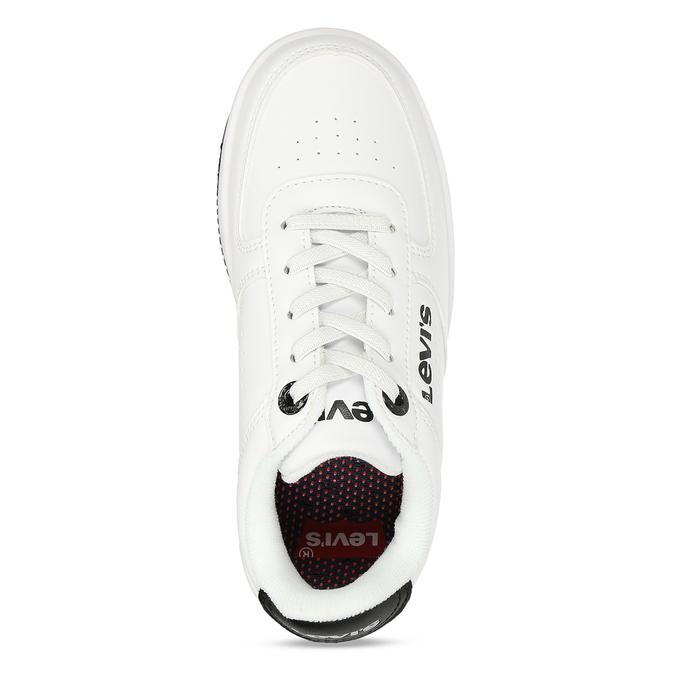 Bílé dětské tenisky s černými detaily levis, bílá, 311-1113 - 17