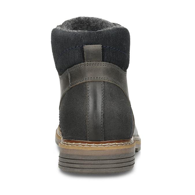 Pánská zimní obuv v šedé kůži bata, šedá, 896-2727 - 15