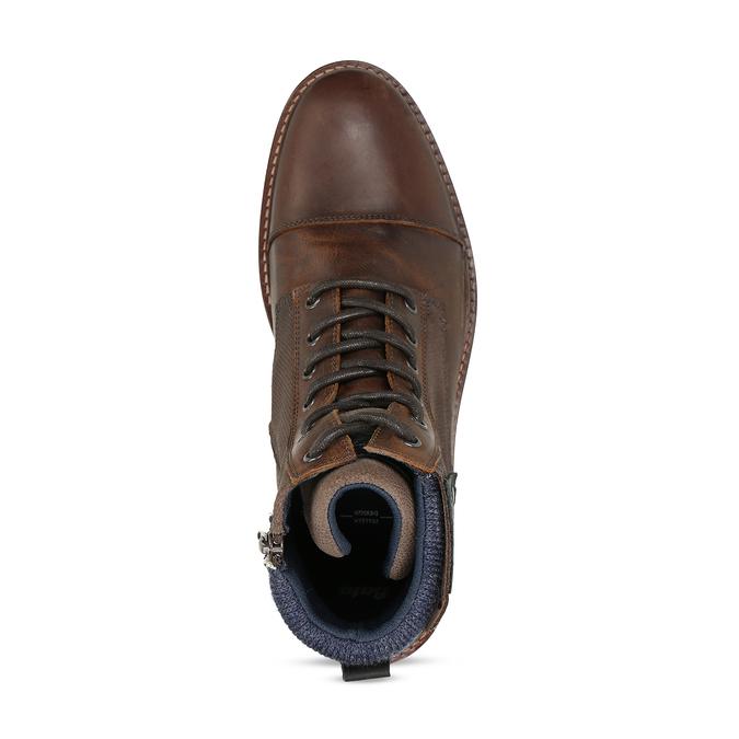 Pánská kotníková obuv v hnědé kůži bata, hnědá, 896-4725 - 17