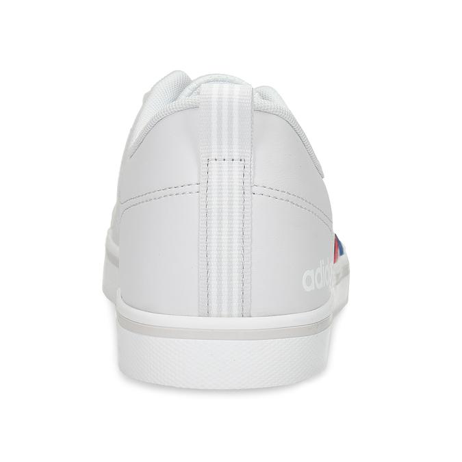 Bílé pánské tenisky s pruhy v červené a modré adidas, bílá, 801-1293 - 15