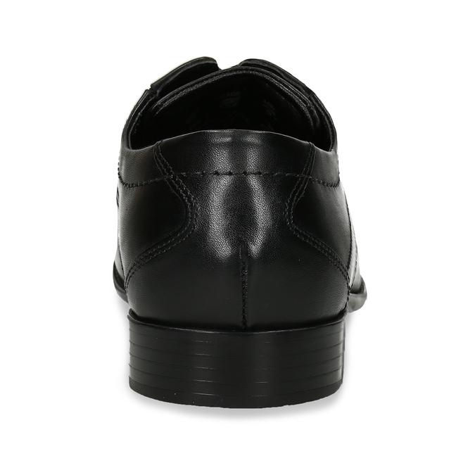 Pánské kožené polobotky černé bugatti, černá, 824-6949 - 15