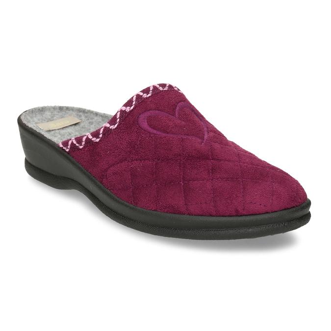 Prošívaná dámská vínová domácí obuv bata, červená, 579-5619 - 13