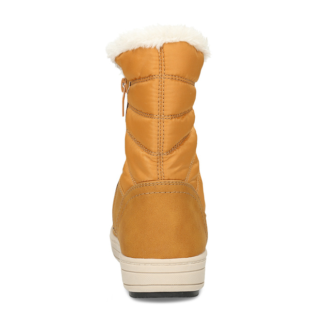 Zimní dámská obuv s huňatým kožíškem bata, žlutá, 599-8630 - 16