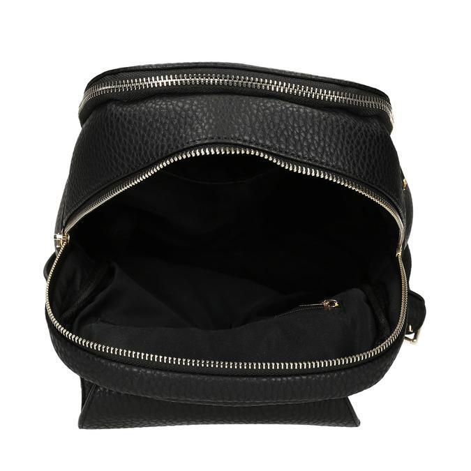 Batoh dámský černý se zlatými zipy bata, černá, 961-6607 - 15