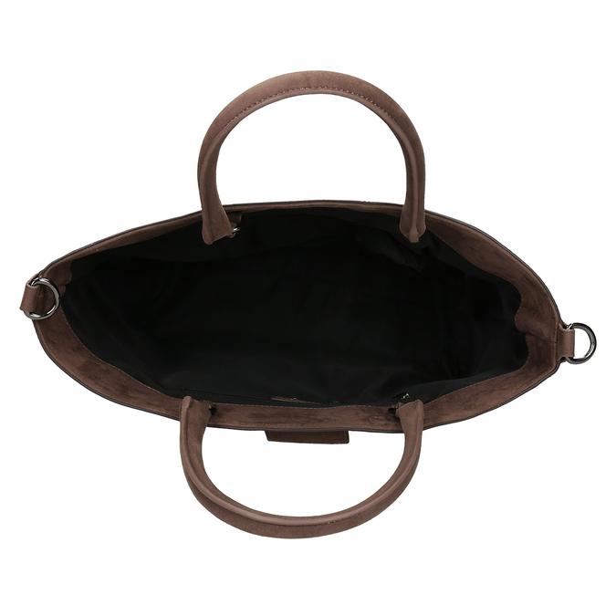 Hnědá kabelka s hadí texturou bata, hnědá, 961-0649 - 15