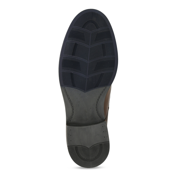 Hnědá kožená pánská obuv s prošíváním a dvěma zipy bata, hnědá, 896-3610 - 18