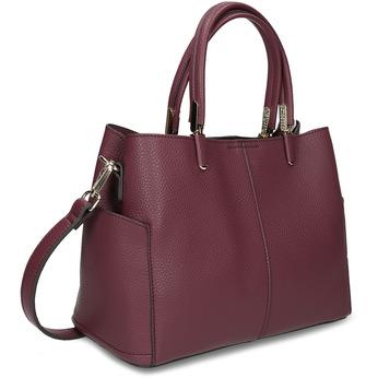 Mahagonová kabelka s kapsičkami na stranách bata, červená, 961-5610 - 13