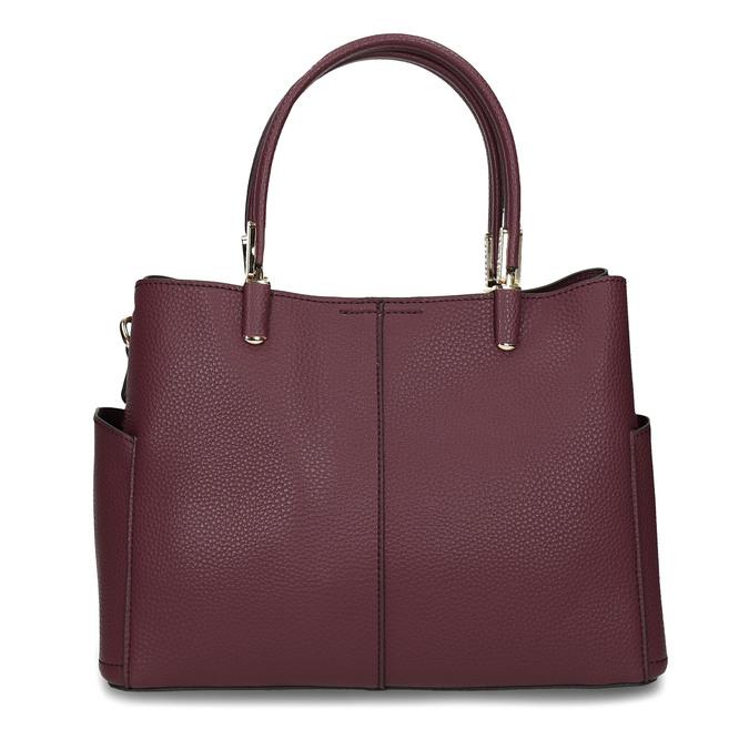 Mahagonová kabelka s kapsičkami na stranách bata, červená, 961-5610 - 26