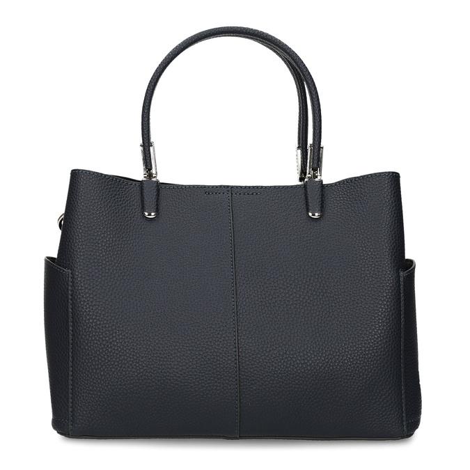 Dámská kabelka s kapsičkami po stranách bata, modrá, 961-9610 - 26