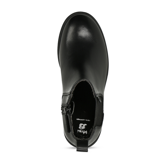 Černá dívčí kožená Chelsea obuv mini-b, černá, 424-6601 - 17