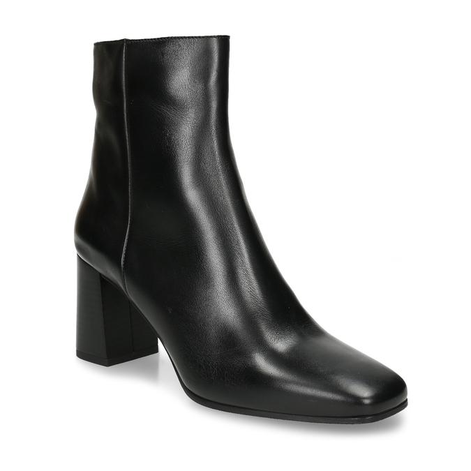 Dámská kotníková obuv v černé kůži bata, černá, 794-6636 - 13