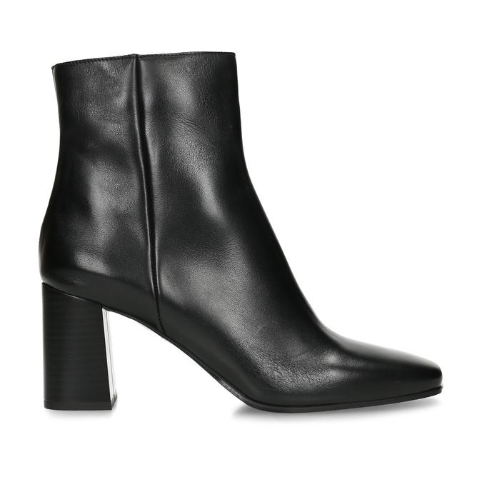 Dámská kotníková obuv v černé kůži bata, černá, 794-6636 - 19
