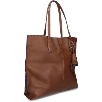 Hnědá kožená kabelka střední velikosti bata, hnědá, 964-4608 - 13