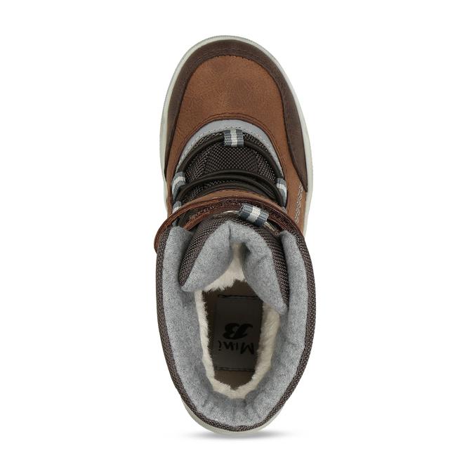 Chlapecká hnědá zimní obuv mini-b, hnědá, 311-4602 - 17