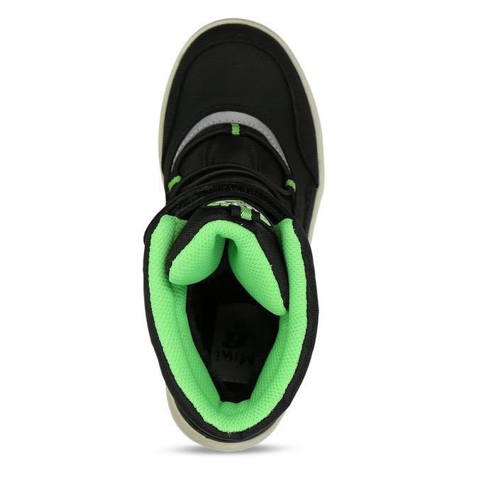 Chlapecké černo-zelené sněhule mini-b, černá, 311-6602 - 17