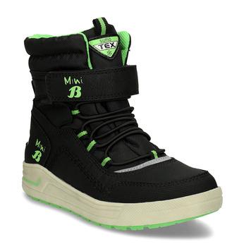 Chlapecké černo-zelené sněhule mini-b, černá, 311-6602 - 13