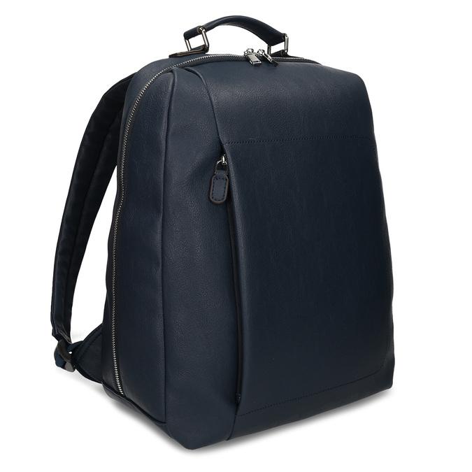 Modrý unisex designový batoh bata, modrá, 961-9777 - 13
