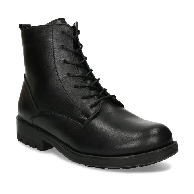 Černá dámská kožená kotníková obuv bata, černá, 594-4633 - 13